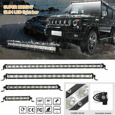 8/14/20/26 inch Single Row Slim LED Work Light Bar Off road For Truck Fog Lamp