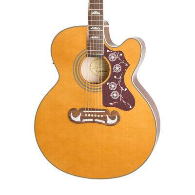 Epiphone EJ-200SCE Electro-Acoustic Guitar, Vintage Natural (NEW)