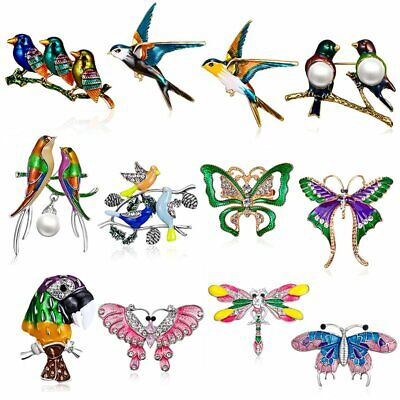 Lovely Sping Crystal Bids Dragonfly Brooch Pin Badge Women Costume DIY Jewelry](Diy Costume Women)