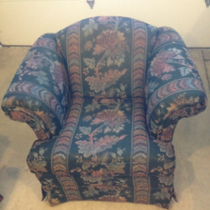 Full size couch, chair and ottoman in very good condition