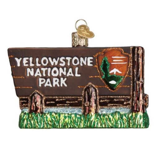 YELLOWSTONE NATIONAL PARK WYOMING OLD WORLD CHRISTMAS GLASS ORNAMENT NWT 36173