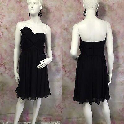 * JS BOUTIQUE * BLACK COCKTAIL DRESS SIZE UK 10 ( Q16 )