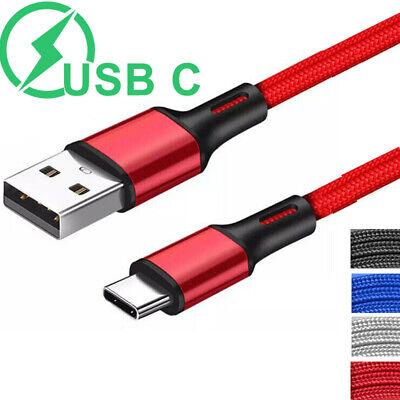 Long Short Type C USB Cable Heavy Duty Fast Charging Lead For Samsung S8 S9 S10
