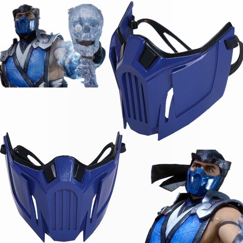 Game Mortal Kombat 11 Sub Zero Half Face Mask Resin Cosplay
