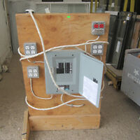 Mounted Electrical Panel with Outlets