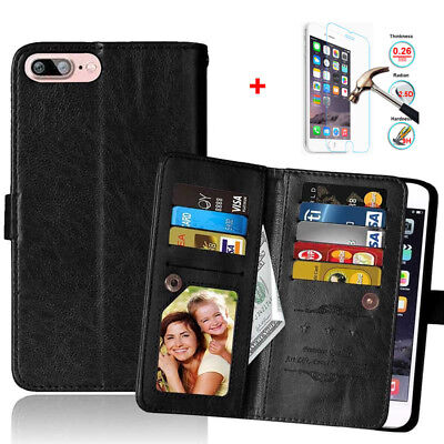 Men /Women Wallet Leather Style Cell Phone Case Cover Skin For iPhone X 8 7 Plus