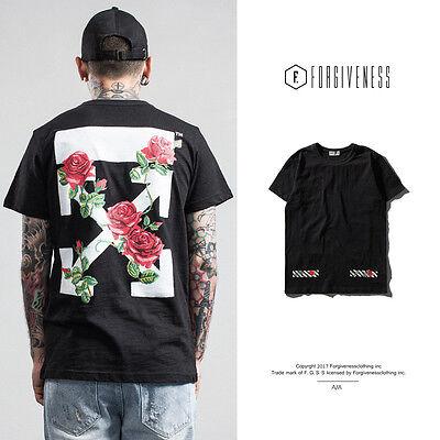 2017 Hot Men's Cotton T-Shirt Short Sleeve Arrows Rose Print Casual Tee Shirts