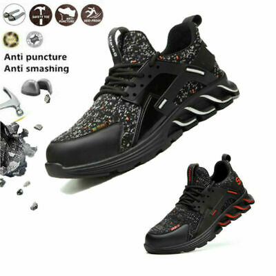 Mens Safety Work Trainers Shoes Toe Shoes Indestructible Steel Hiking Boots Cap1