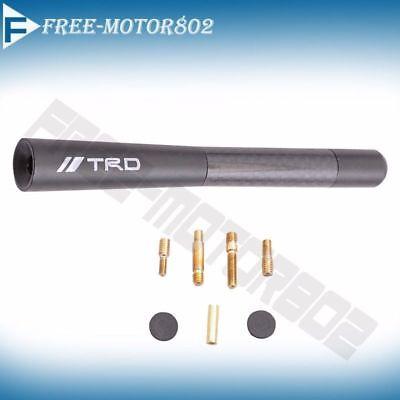 TRD Carbon Fiber Black Aluminum Alloy Screw Antenna Short 4.7 Inch For Toyota