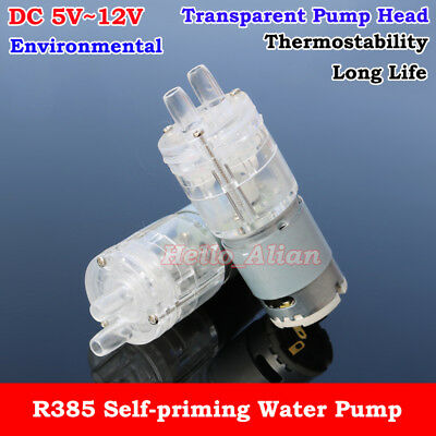 Dc 5v12v 6v 9v Transparent Small Mini R385 Self-priming Water Pump Suction Pump