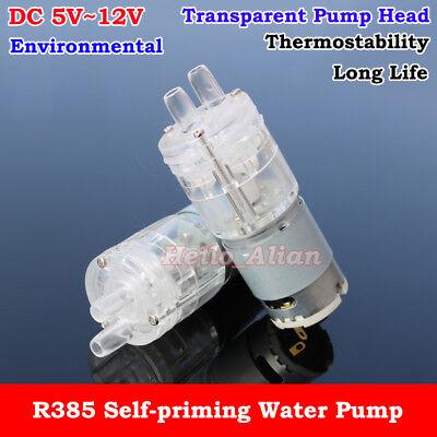 Dc 5v-12v 6v 9v Transparent Small Mini R385 Self-priming Suction Hot Water Pump