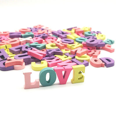 100pcs Colorful Home Decoration Wood Wooden Letter Alphabet Word Free Standing - Standing Letter Decor