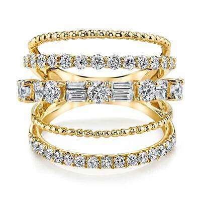 - Luxury 18k Yellow Gold Plated Rings for Women jewelry White Sapphire Size 6-10