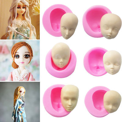 Baby Face Silicone Mold Chocolate Polymer Clay Dolls Face Craft Molds Baking