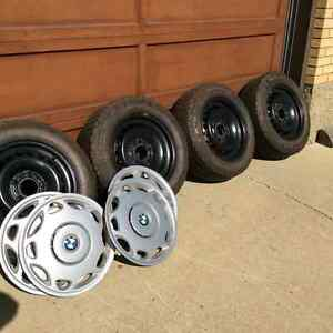 BMW winter tires, rims and hubcaps