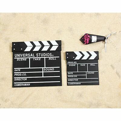 S/L Movie Film TV Slate Clapper Board Dry Erase Clapboard Cut Action Prop - Action Clapboard