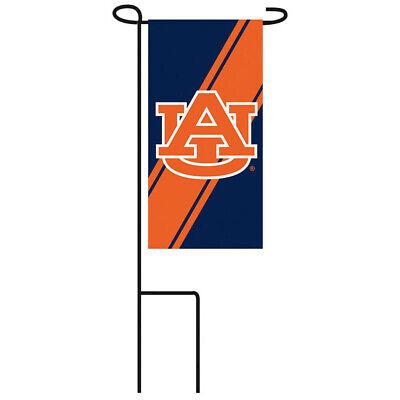 LOT OF (3) AUBURN TIGERS MINI GARDEN FLAG WITH METAL - Auburn Tigers Garden
