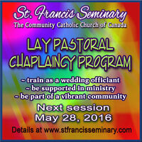 May 28  - Chaplaincy course offers wedding officiant training