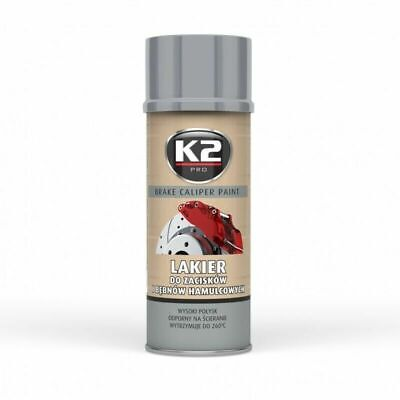 K2 BREMSSATTELLACK SPRAY 400ML BRAKE CALIPER PAINT SILBER