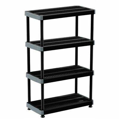 Rimax Black Heavy Duty 4-Shelf Storage Rack