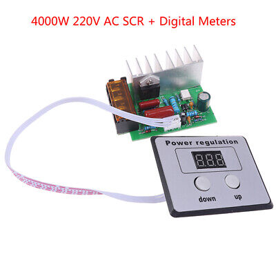 4000w 220v Ac Scr Voltage Regulator Motor Speed Temperature Controller U P