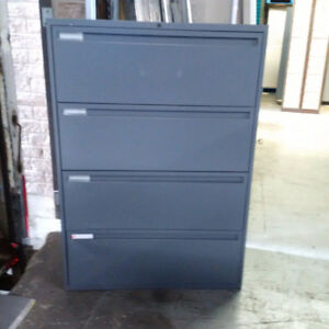 4 Drawer Lateral Filing Cabinets; Metal Filing Cabinets