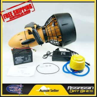 NEW Assassin USA 300W SEA SCOOTER 6KM/H Under Water POOL FISHING