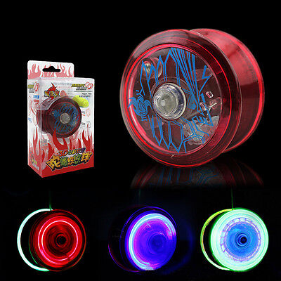 Light Up YoYo Ball for Magic Juggling Toy Fancy Moves Flashing LED Random E23 ft