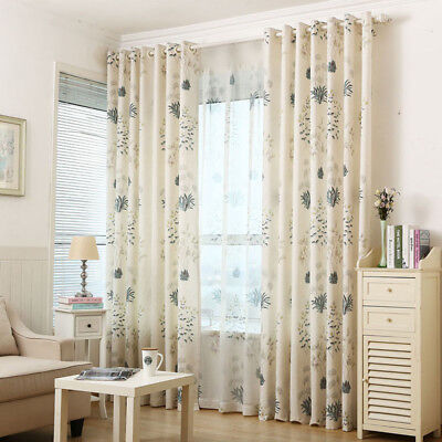 Cotton Modern Curtain - 1 Piece Cotton Linen Curtain Set Shade Cloth & Sheer Tulle Pastoral Modern Drape