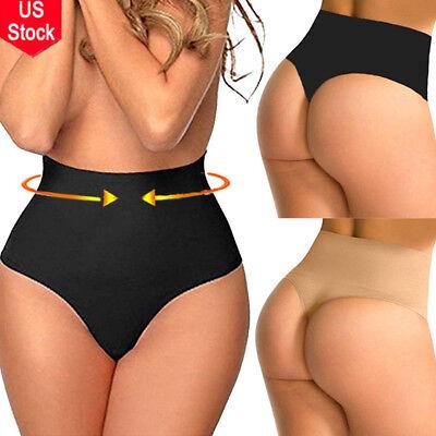 Womens Waist Tummy Control Thong Body Shaper Panty Trainer Butt Lifter Underwear