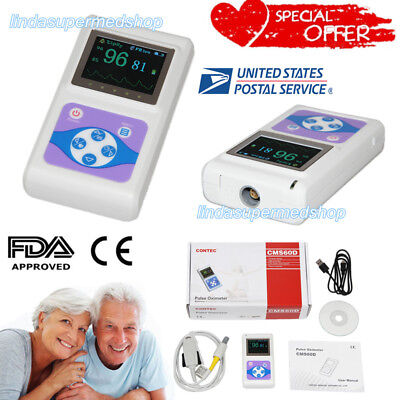 Contec Oled Hand-held Pulse Oximeter Spo2 Blood Oxygen Monitor Usb Adult Cms60d