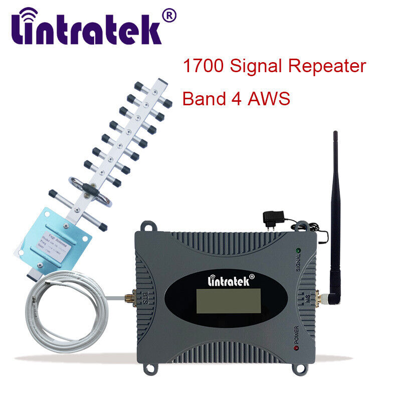 Lintratek 1700/2100 AWS 1 B4 Cell Phone Signal Booster 3G/4G Cellular Amplifier