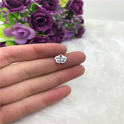 40Pcs Handmade Charm Tibetan Silver Bead Finding Jewellery Making 8X8mm