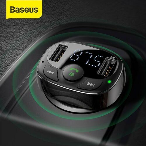 Baseus Bluetooth Wireless FM Transmitter 3.4A Car USB Charge
