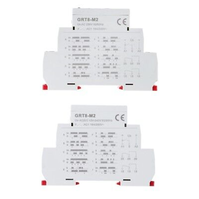 Acdc Multi-function 3knob Din Rail Auto Timer Delay Relay12spdt Control Switch