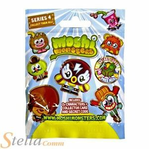 Moshi Monsters Series 4 Blind Bags - 2 Collectible Figures + In-Game Code