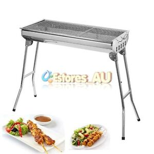 Portable Folding Stainless Steel Charcoal BBQ Grill Outdoor Picnic Camping【AU】