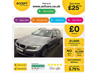 Grey BMW 318 2.0 Petrol Touring auto 2009 i SE FROM £25 PER WEEK!