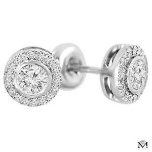 BOUCLES D'OREILLES EN DIAMANTS DE .55 CARAT SUR OR 14K / 14K GOLD AFFORDABLE DIAMOND STUDS.55 CTW