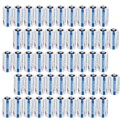 50Pcs 3 0V Lithium Cr123a 123 Cr123 Battery For Camera  Flashlight Etc From Usa
