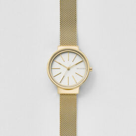 NEW AUTHENTIC SKAGEN ANCHER gold metal mesh watch (RRP £165)