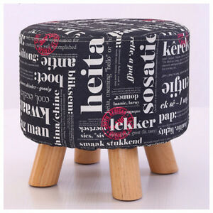 Chair pouf stool accent ( wooden NEW in box)