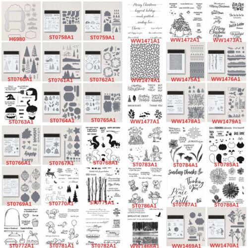 Winter Halloween Christmas Cutting Dies Clear Stamp Diy Scrapbooking Crafts Card