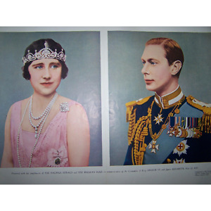 Pullout From The Halifax Herald Coronation King George VI Queen