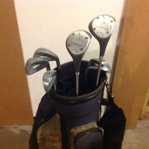 Ladies right handed golf clubs and bag