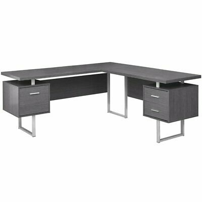 """Monarch Specialties Computer Desk - 70""""L / Grey Left or Righ"""