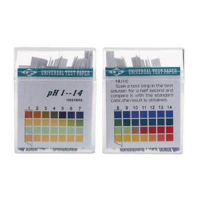 100 Strips 1-14 Ph Alkaline Acid Indicator Paper Water Saliva Litmus Testing Kit