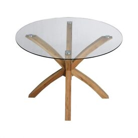Valera 110Cm Trestle Dining Table with solid oak legs selling at £100 this is £319.99 to buy