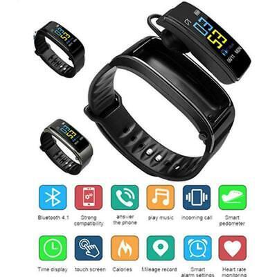 Smartwatch orologio Bluetooth cardiofrequenzimetro da polso con auricolare sport