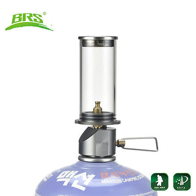BRS Mini Portable Camping Lantern Gas Light Glass Lamp Tent Torch Night Lights